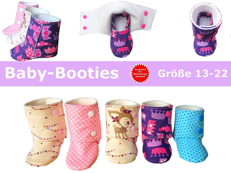 new styles d1069 156df Baby-Booties - Babyschuhe nähen - Schnittmuster & Anleitung