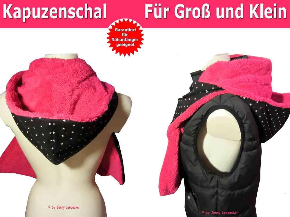 Fine Frei Kapuzenschal Schnittmuster Model - Decke Stricken Muster ...