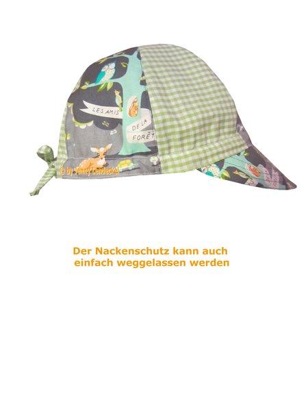 Schnittmuster Sommerhut mit Nackenschutz nähen