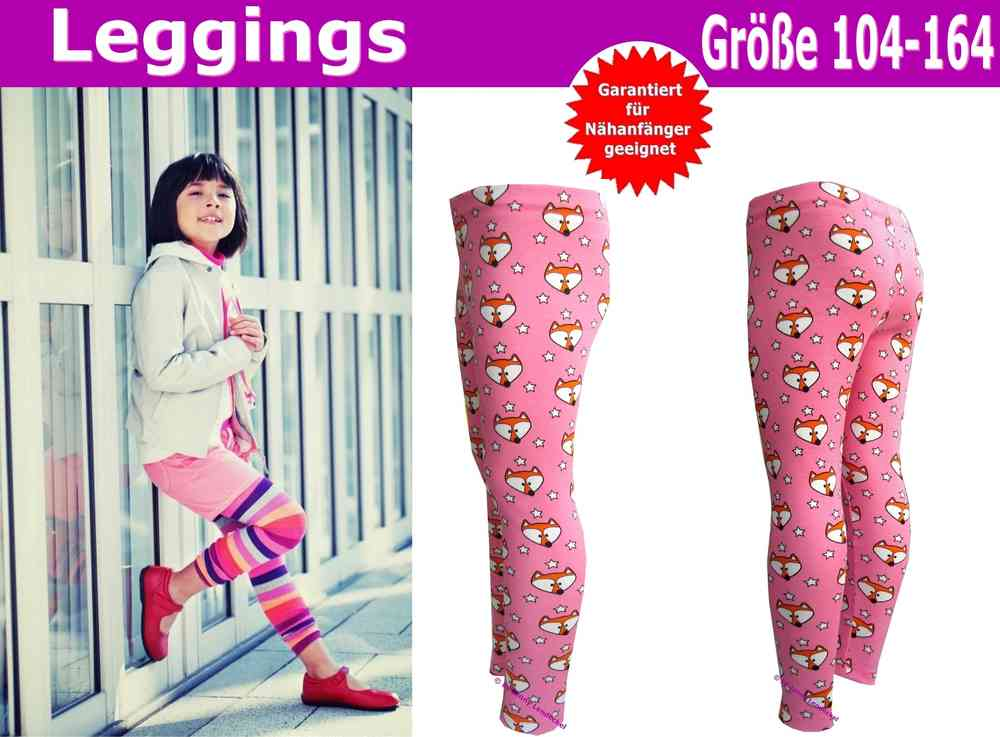 Kinder und Teenieleggings nähen - Schnittmuster Leggings