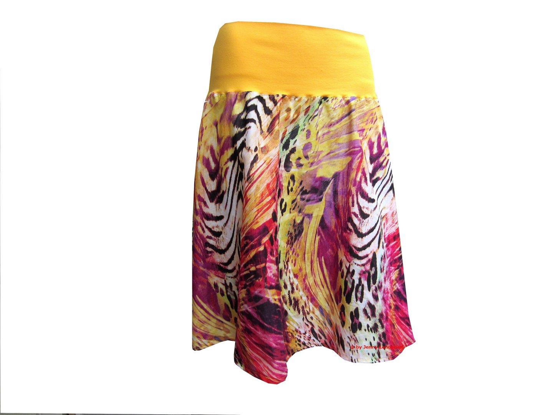 Damenrock mit Bündchen nähen, Schnittmuster und Nähanleitung