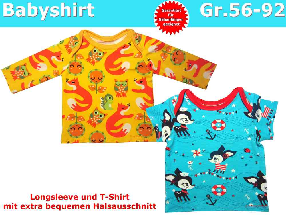 Schnittmuster Baby T-Shirt und Baby Pullover nähen