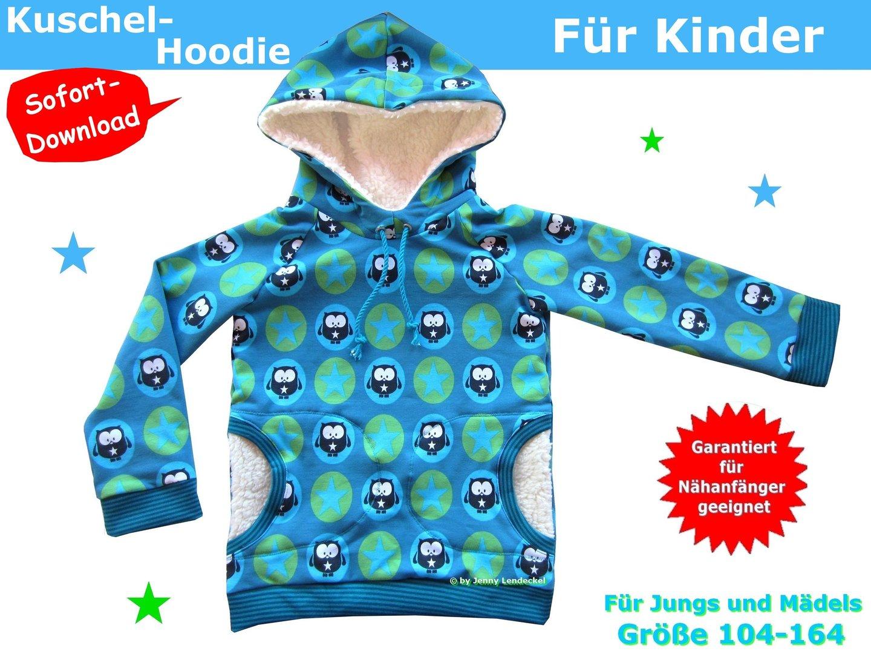 Hoodie für Kinder nähen, Schnittmuster