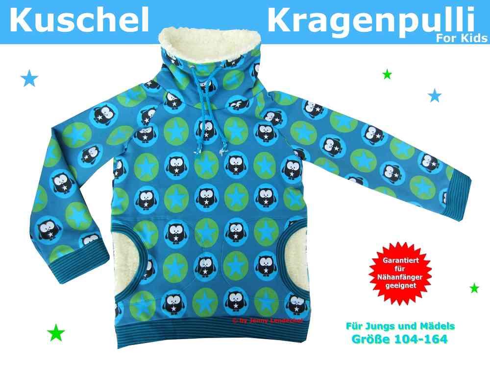 Kuschel-Kragenpulli für Kinder nähen - Schnittmuster