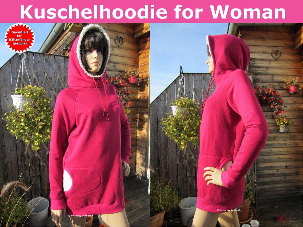 Kuschel-Hoodie/Kapuzenpulli für Damen nähen, Schnittmuster