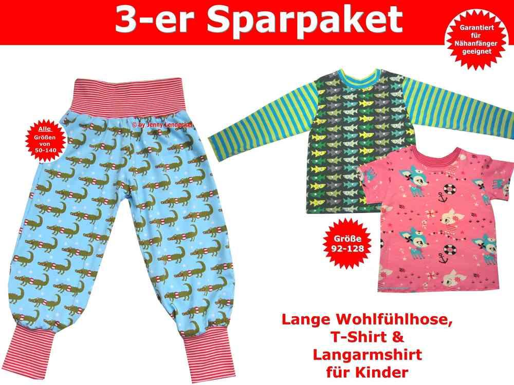 Kindershirts und Pumphose/Kinderhose selber nähen- Schnittmuster