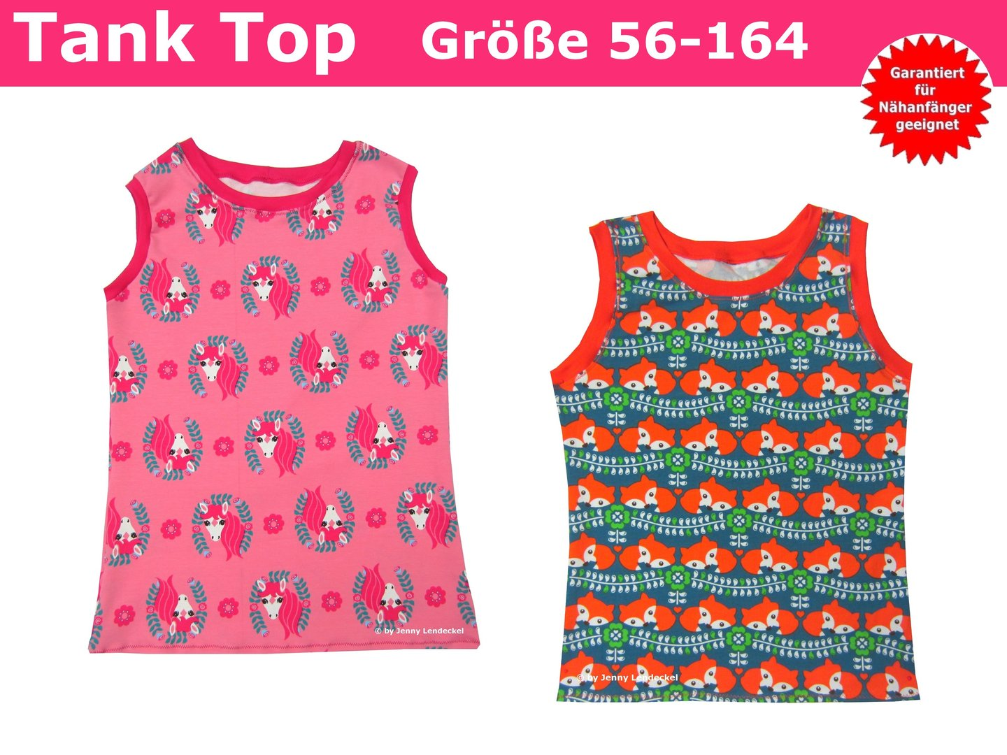 Trash Monstarz® Nähshop - Schnittmuster Kinder Tank Top