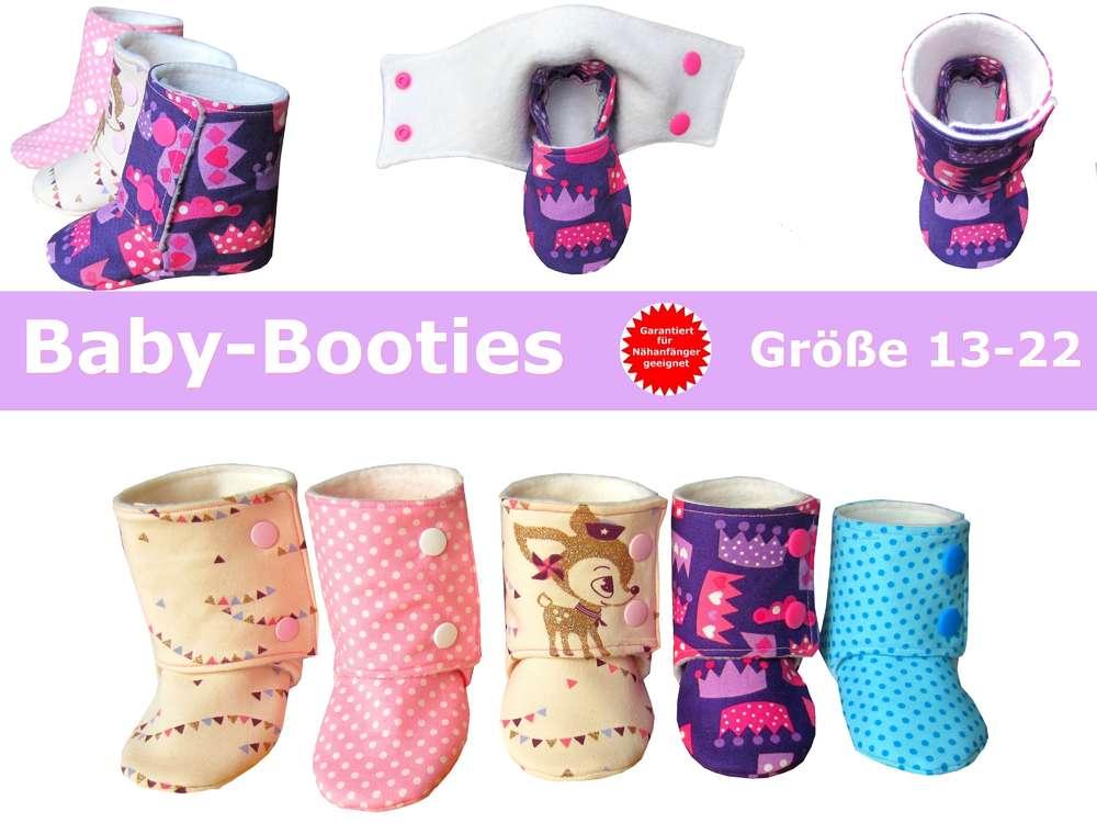 Babyschuhe nähen- Baby-Booties Trash Monstarz® - Schnittmuster