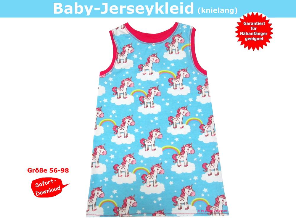 Jersey Babykleid nähen, Jerseykleid Schnittmuster und Anleitung