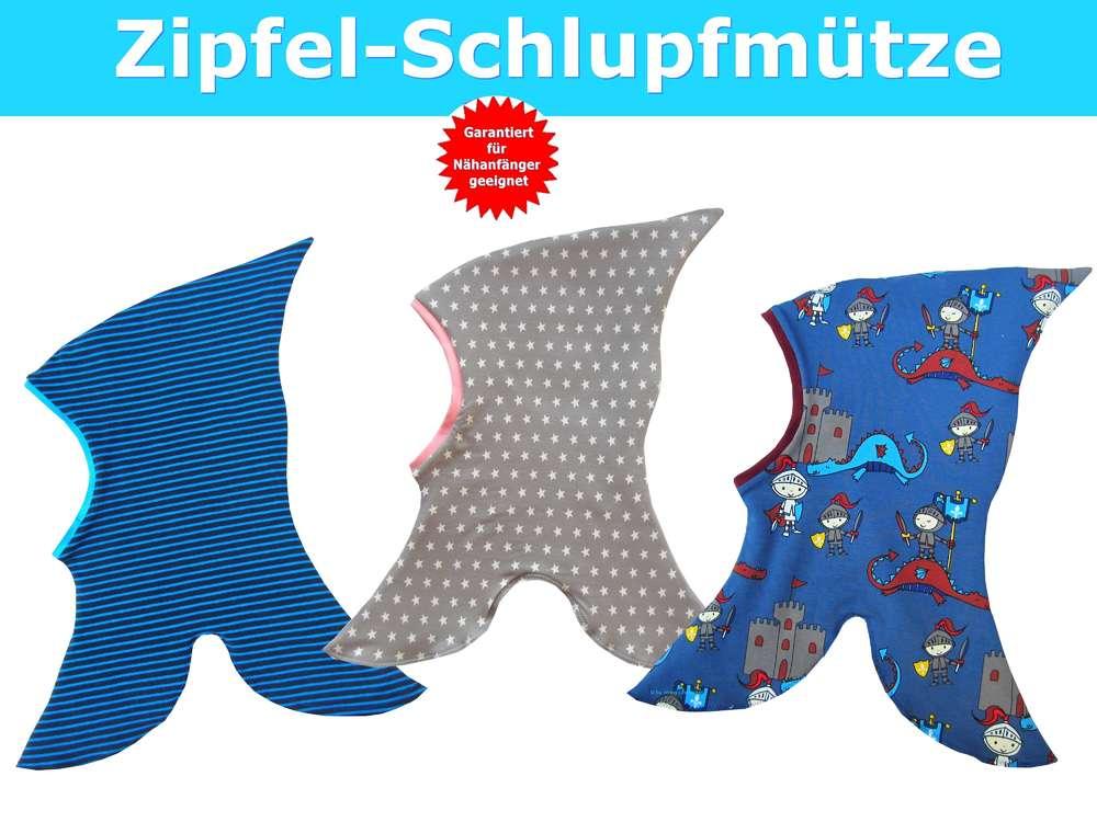 Zipfel-Schlupfmütze Schnittmuster - Schnittmuster Kindermütze