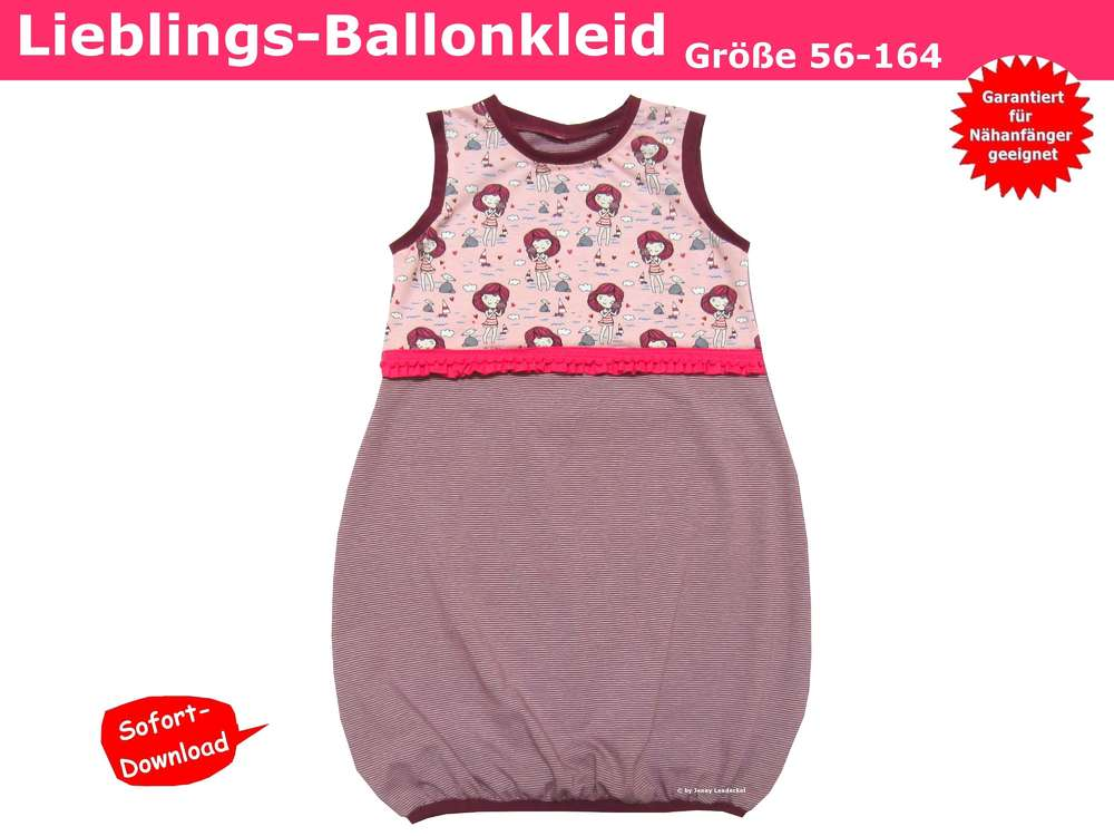 Ballonkleid/Kinderkleid - Schnittmuster & Nähanleitung