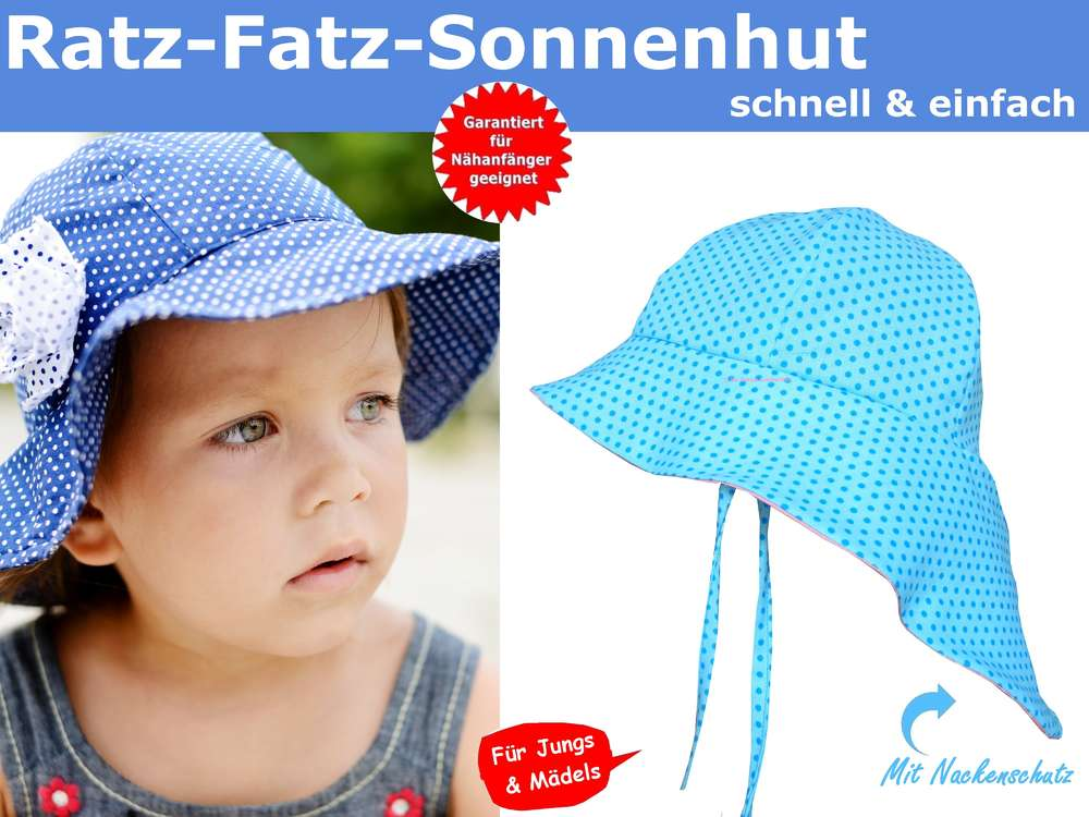 Schnittmuster Sonnenhut Baby & Kinder, inklusive Nähanleitung